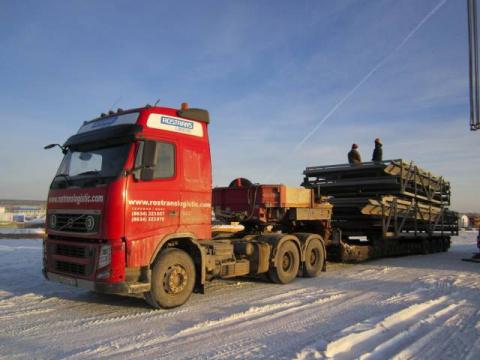 Перевозка панелей газохода - Серовская ГРЭС