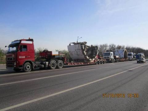Перевозка тоннелепроходческого оборудования
