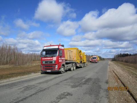 Части экскаватора в Иркутскую область