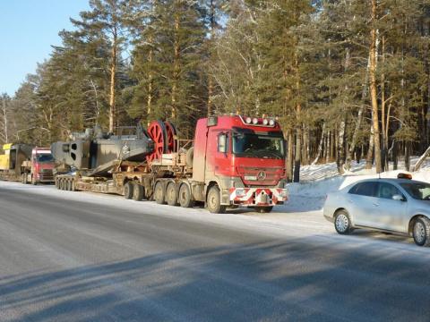 Части шагающего экскаватора в Кемеровскую область
